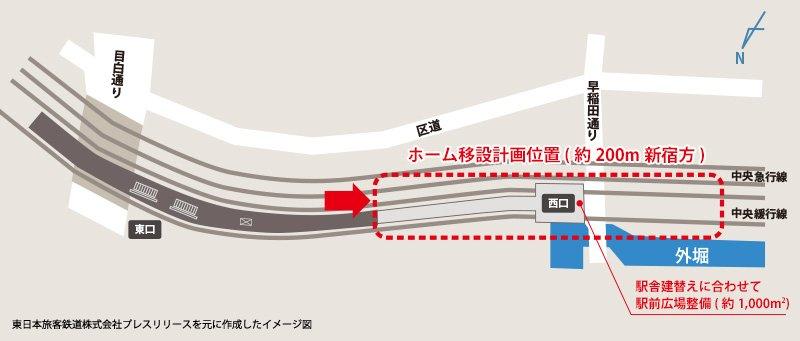 飯田橋駅移設